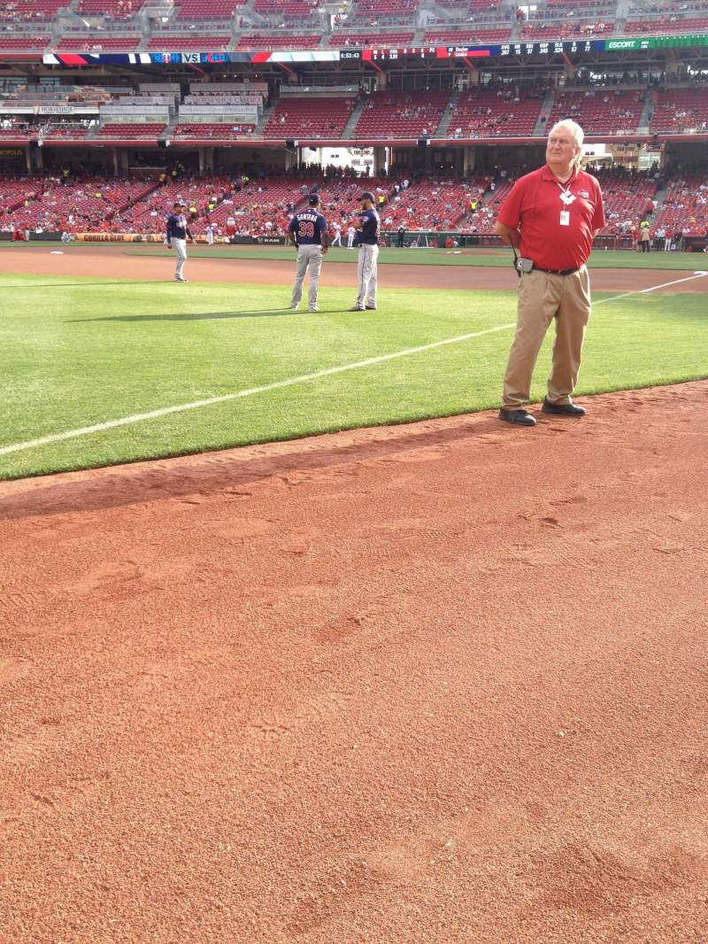 Seating view for Great American Ball Park Section 111 Row A Seat 1