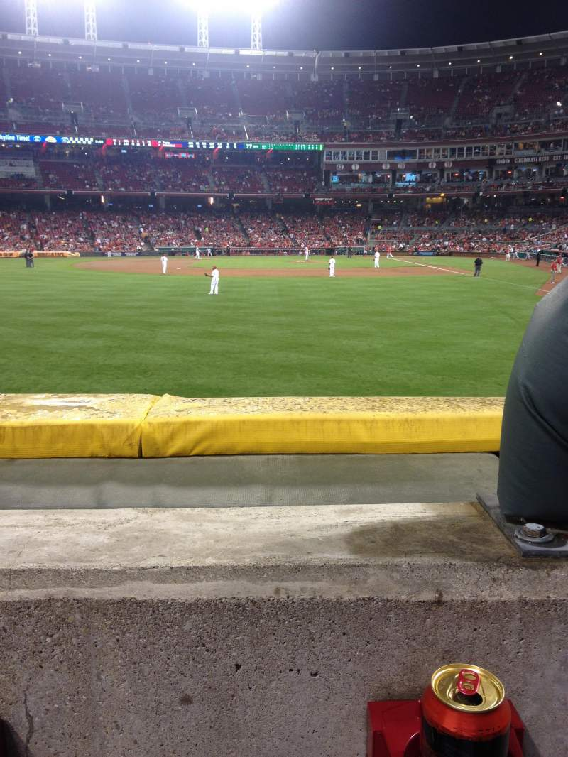Seating view for Great American Ball Park Section 104 Row A Seat 1