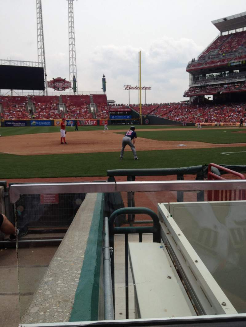 Seating view for Great American Ball Park Section 115A Row F Seat 16