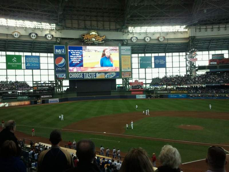 Seating view for Miller Park Section 222 Row 4 Seat 9