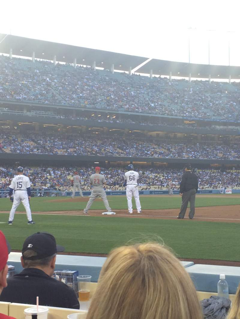 Seating view for Dodger Stadium Section 26BL Row 3 Seat 5