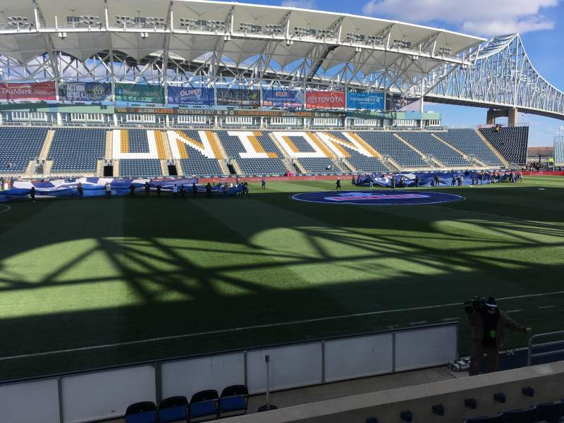 Seating view for Talen Energy Stadium Section 109 Row G Seat 10