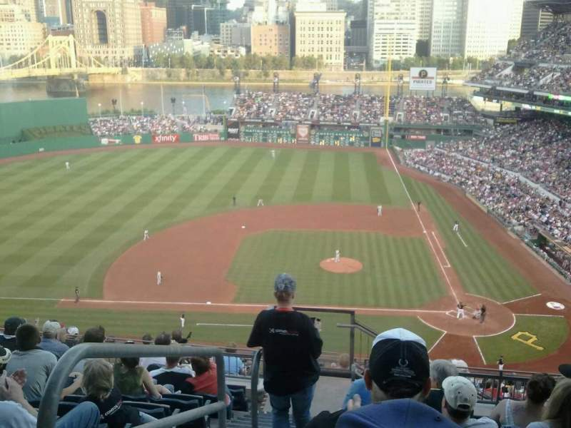 Seating view for PNC Park Section 321 Row Q Seat 24