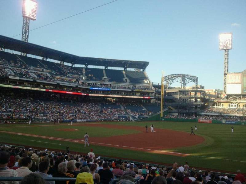 PNC Park, section 107, row L, seat 15 - Pittsburgh Pirates