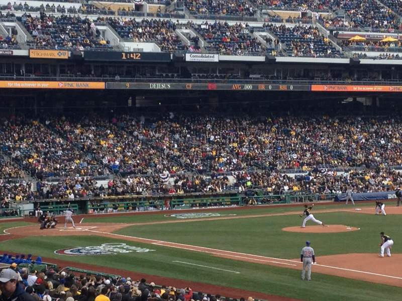 Seating view for PNC Park Section 105 Row W Seat 3