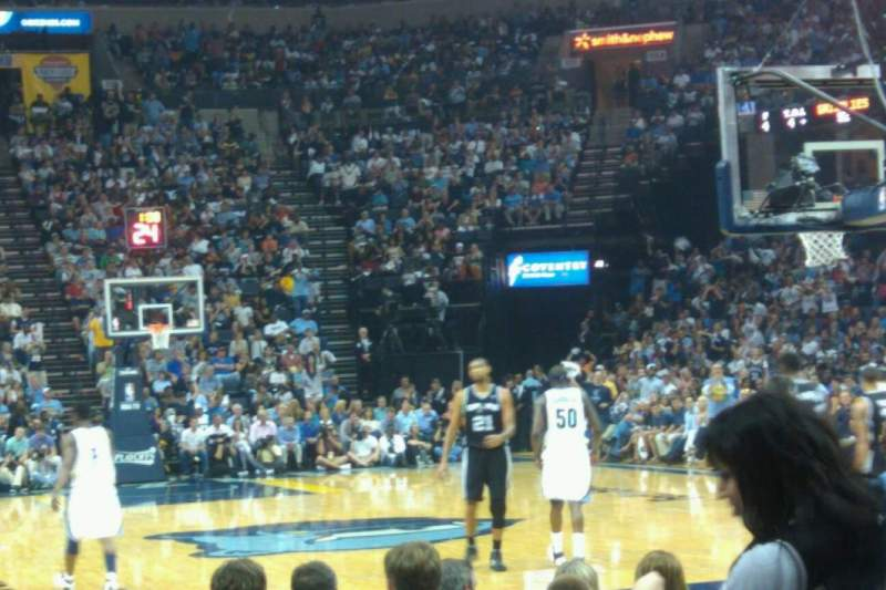Seating view for FedEx Forum Section 109 Row g Seat 13