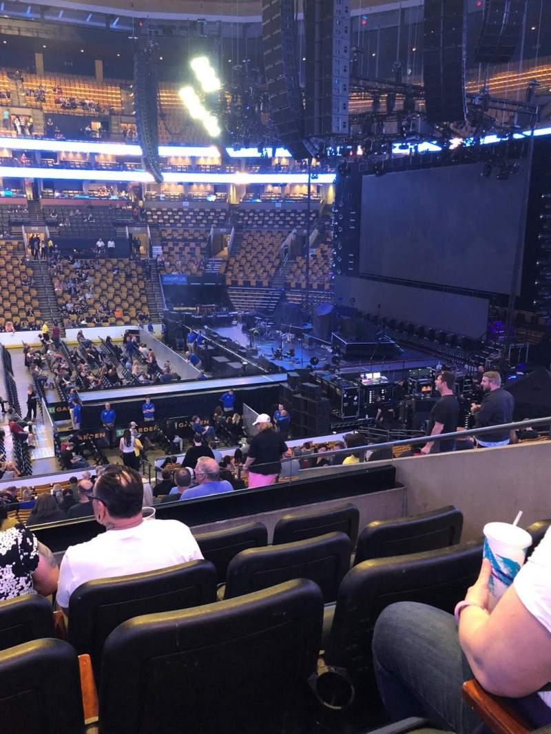 TD Garden, section: Club 109, row: B, seat: 7