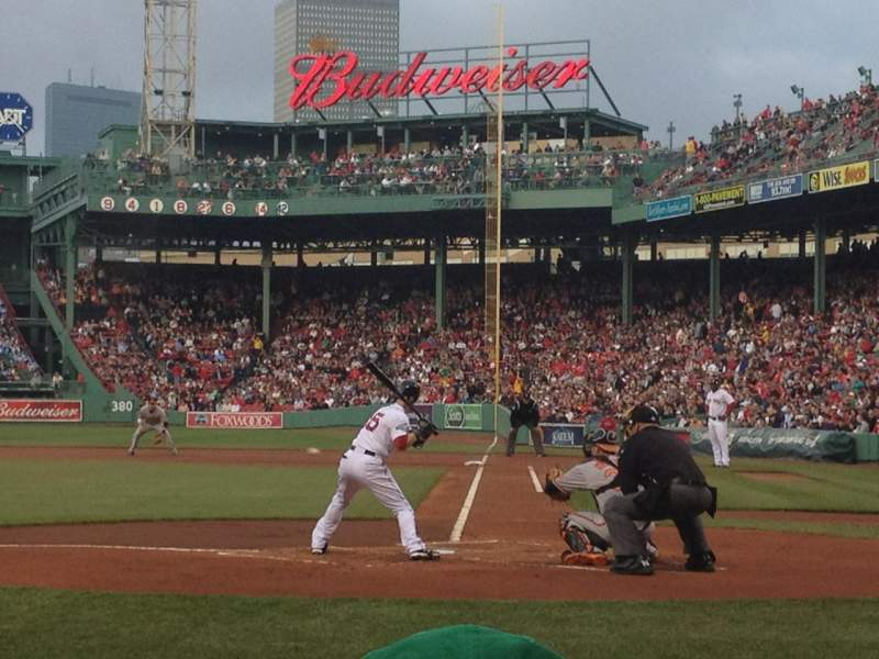 Seating view for Fenway Park Section Field Box 51 Row B Seat 3