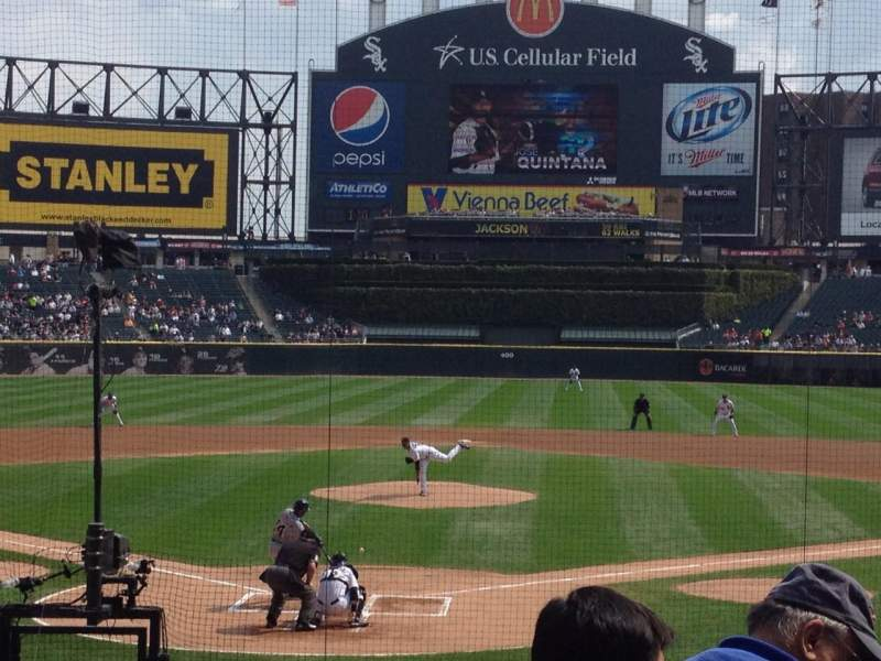 Seating view for U.S. Cellular Field Section 132 Row 17 Seat 1