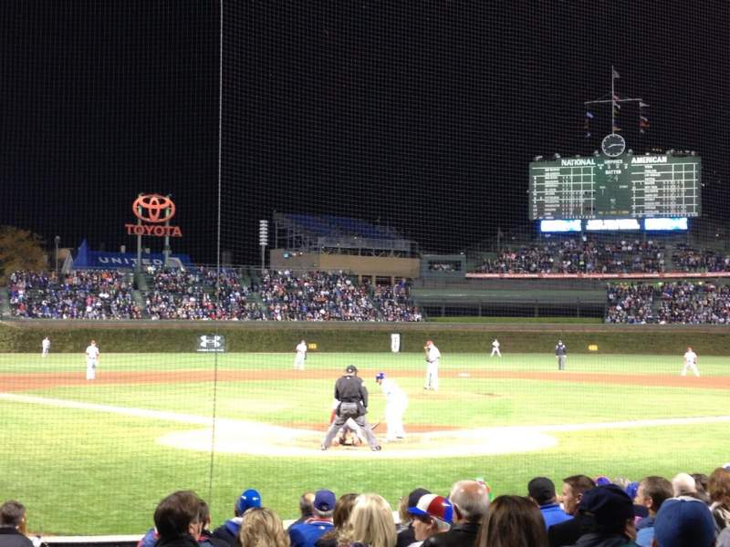 Seating view for Wrigley Field Section 22 Row 10 Seat 1