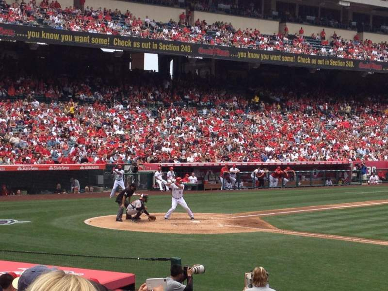 Seating view for Angel Stadium Section F124 Row P Seat 18
