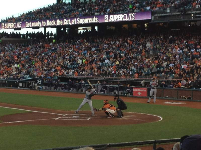 Seating view for AT&T Park Section 122 Row J Seat 15