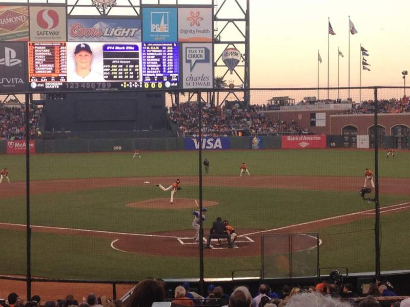 Seating view for AT&T Park Section 116 Row 25 Seat 10
