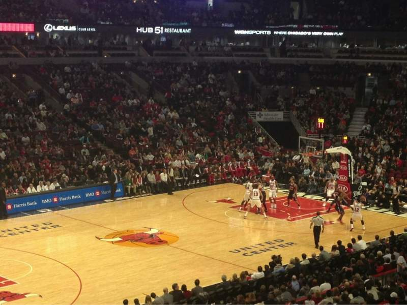 Seating view for United Center Section 220 Row 1 Seat 11