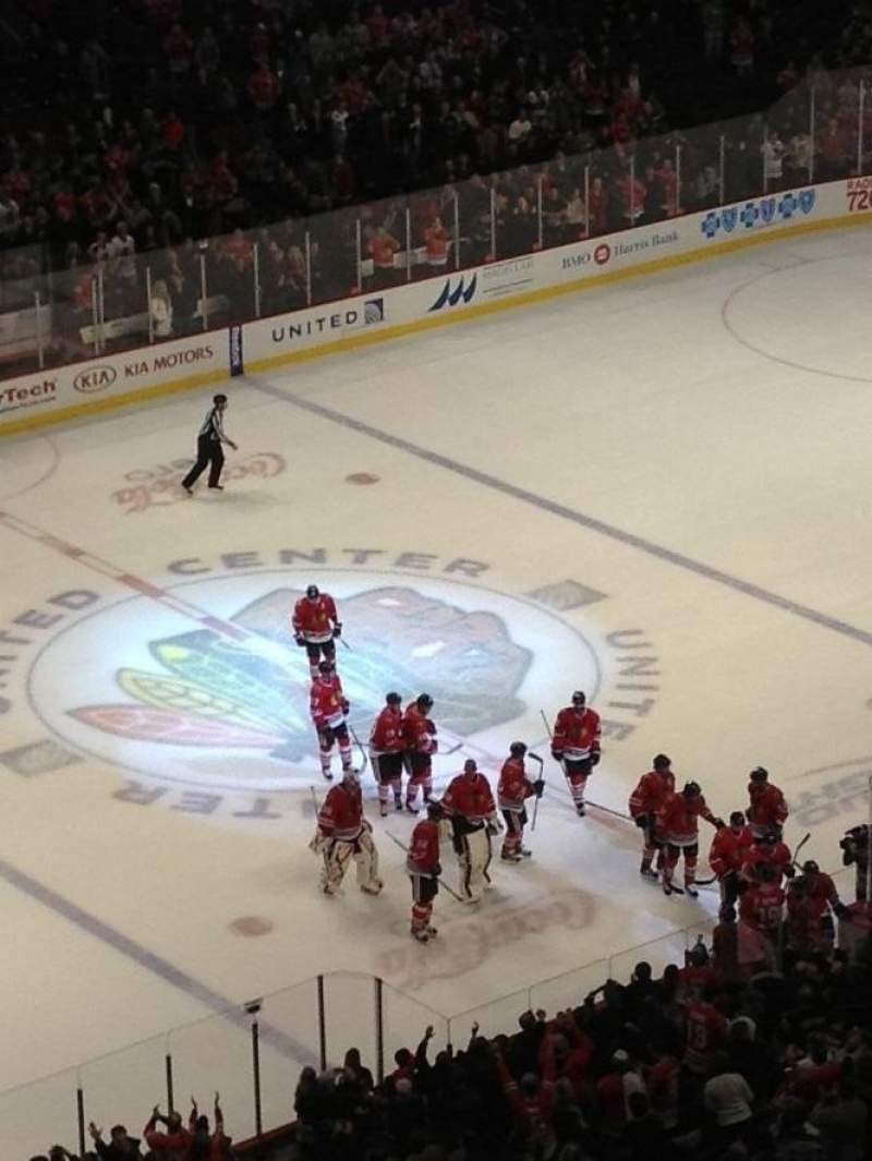 Seating view for United Center Section 304 Row 12 Seat 3