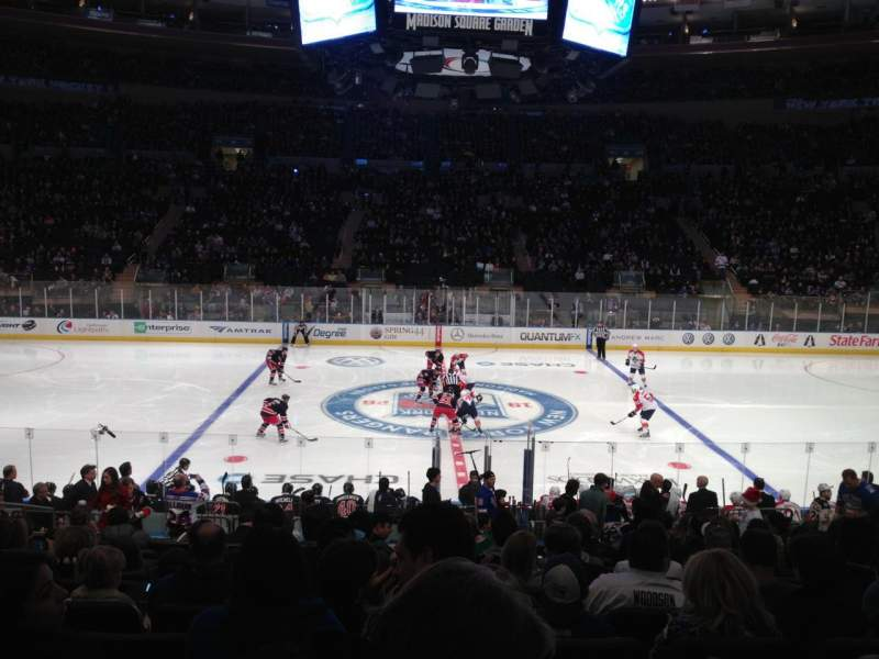 Seating view for Madison Square Garden Section 107