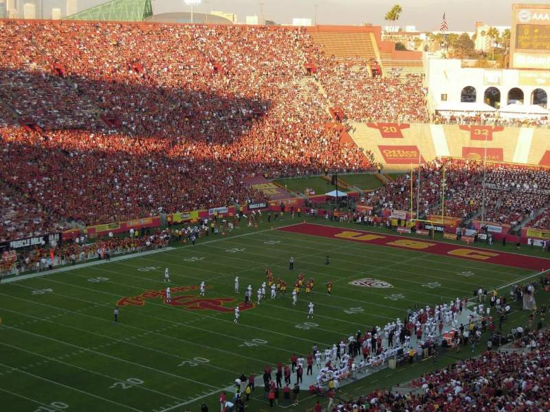 Seating view for Los Angeles Memorial Coliseum Section 10L Seat 1