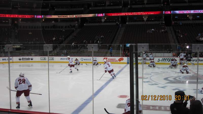 Seating view for Pepsi Center Section 126