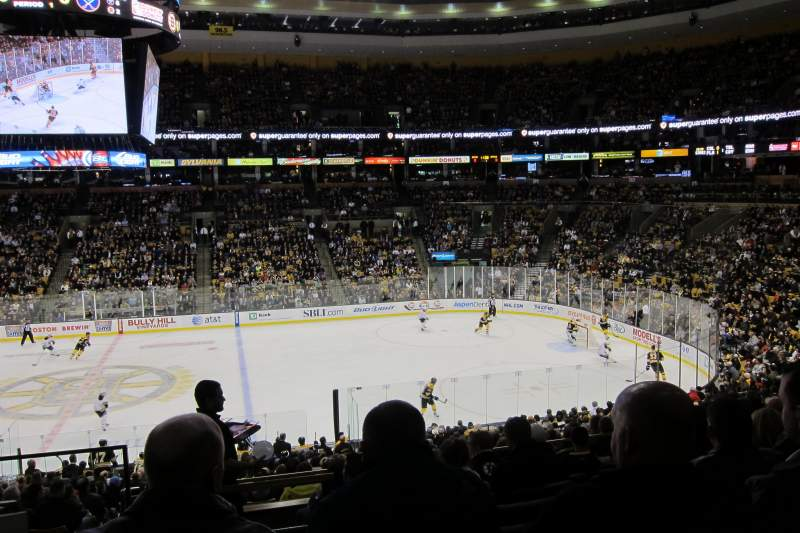 Seating view for TD Garden Section Club 109
