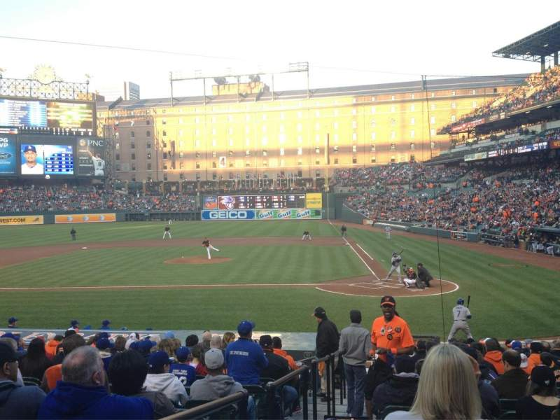 Seating view for Oriole Park at Camden Yards Section 46 Row 18 Seat 9