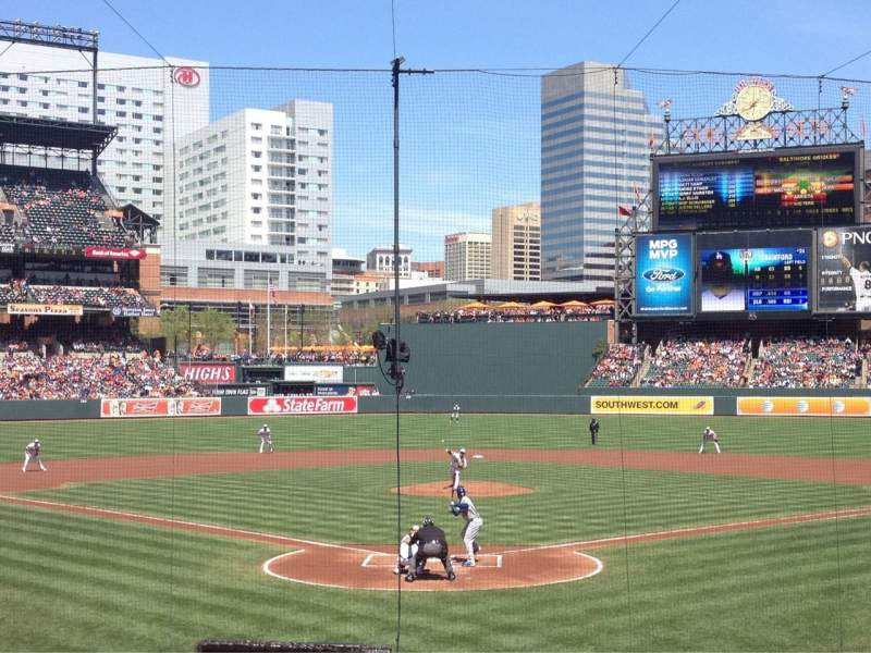 Seating view for Oriole Park at Camden Yards Section 36 Row 18 Seat 5