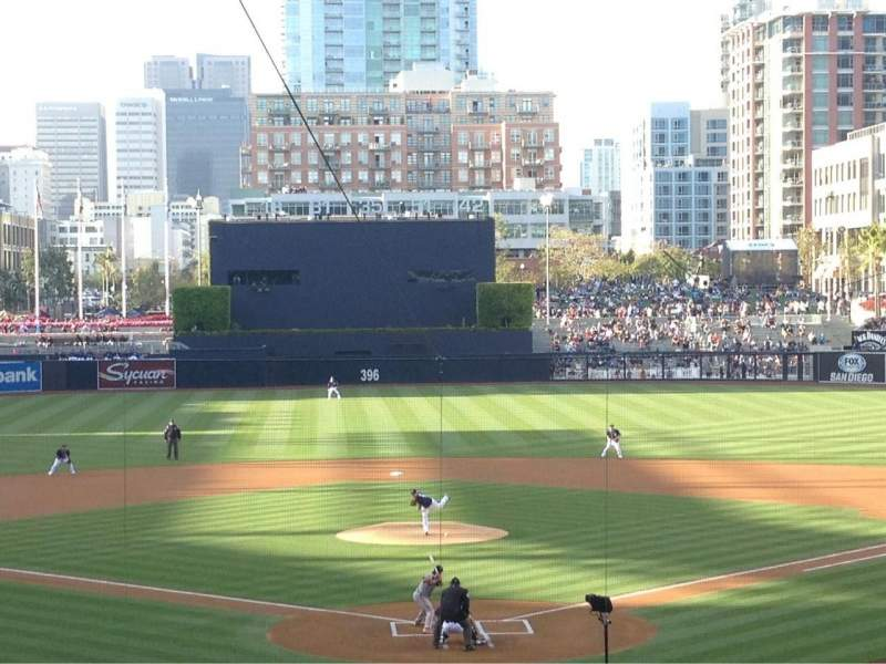 Seating view for Petco Park Section F Row 15 Seat 5
