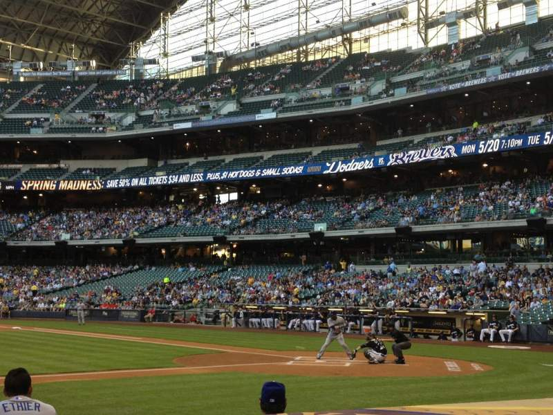 Seating view for Miller Park Section 122 Row 5 Seat 2