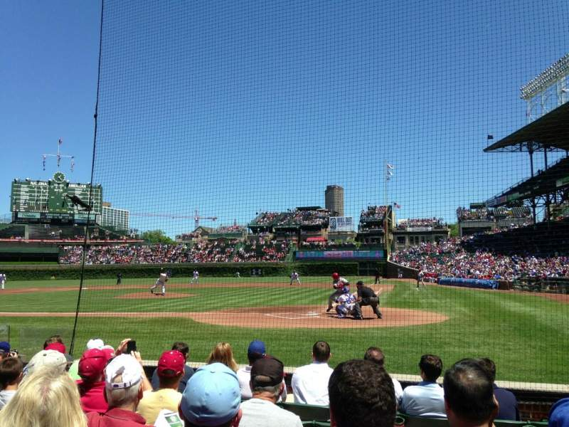 Seating view for Wrigley Field Section 17 Row 3 Seat 102