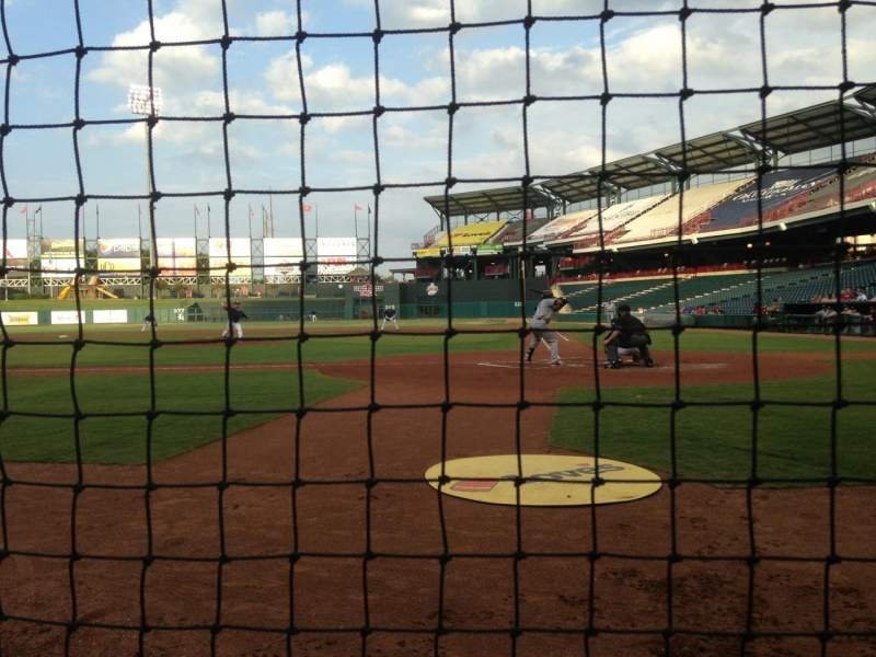 Seating view for Chickasaw Bricktown Ballpark Section 107 Row B Seat 1