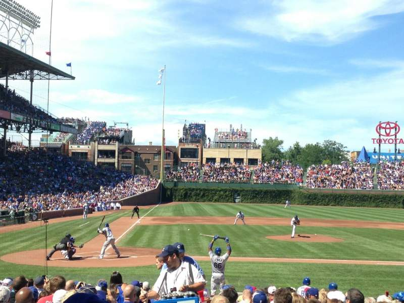Seating view for Wrigley Field Section 126 Row 6 Seat 2