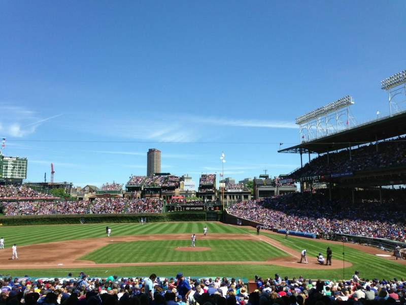 Seating view for Wrigley Field Section 215 Row 3 Seat 8