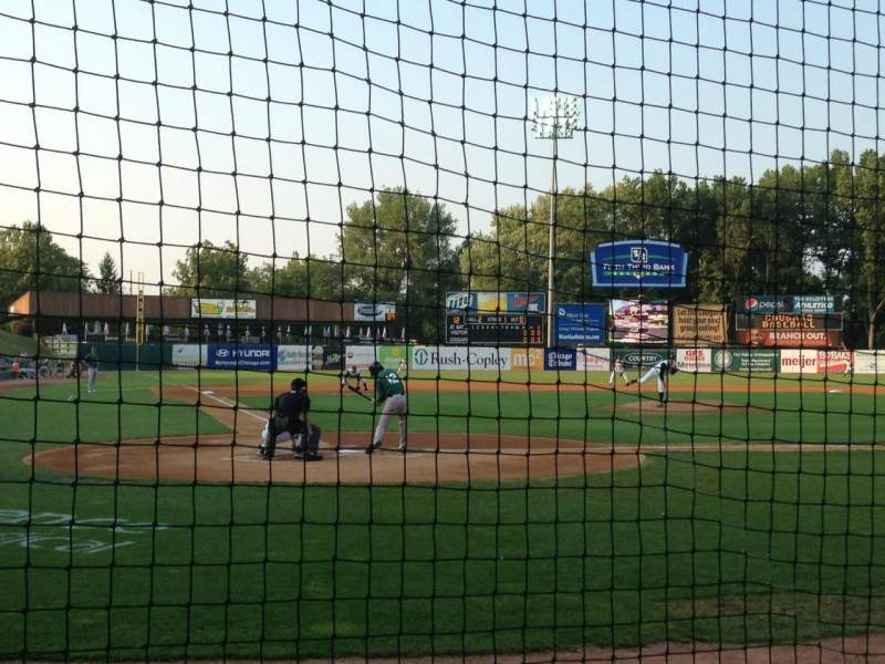 Seating view for Fifth Third Bank Ballpark Section 109 Row B Seat 1