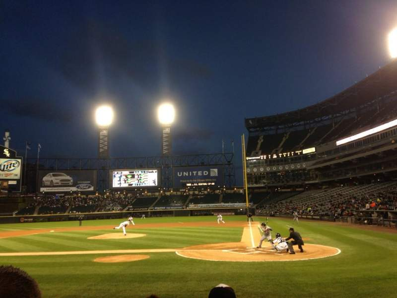Seating view for Guaranteed Rate Field Section 136 Row 8 Seat 1