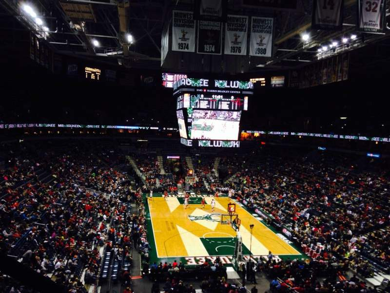 Seating view for BMO Harris Bradley Center Section 434 Row B Seat 2
