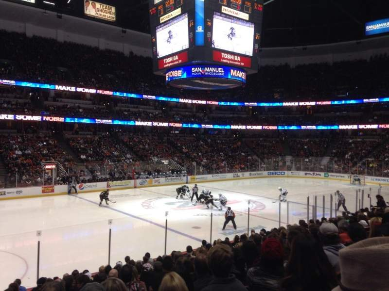 Seating view for Honda Center Section 224 Row Q Seat 14