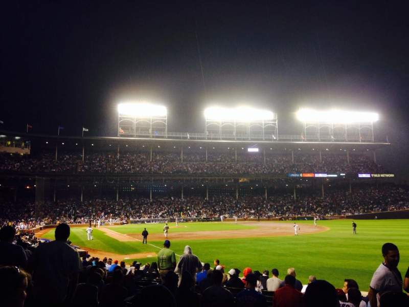 Seating view for Wrigley Field Section 140 Row 10 Seat 108