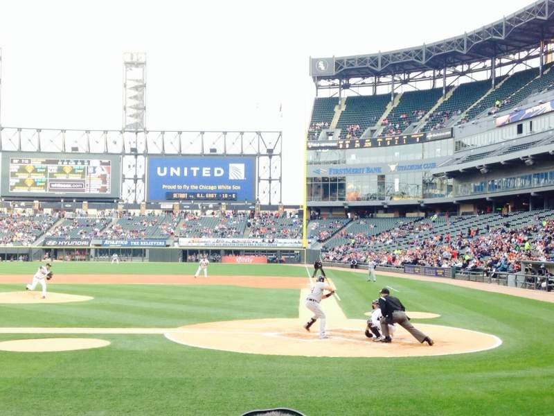 Seating view for Guaranteed Rate Field Section 136 Row 7 Seat 2