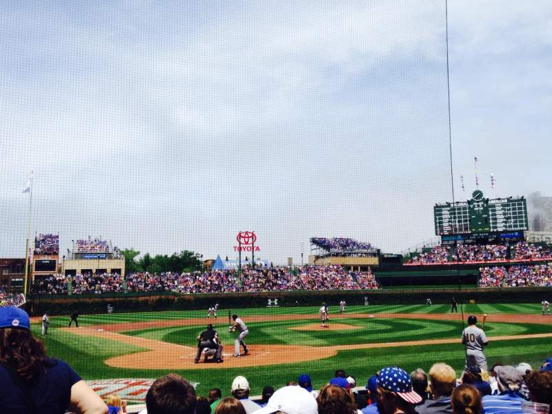 Seating view for Wrigley Field Section 20 Row 12 Seat 2