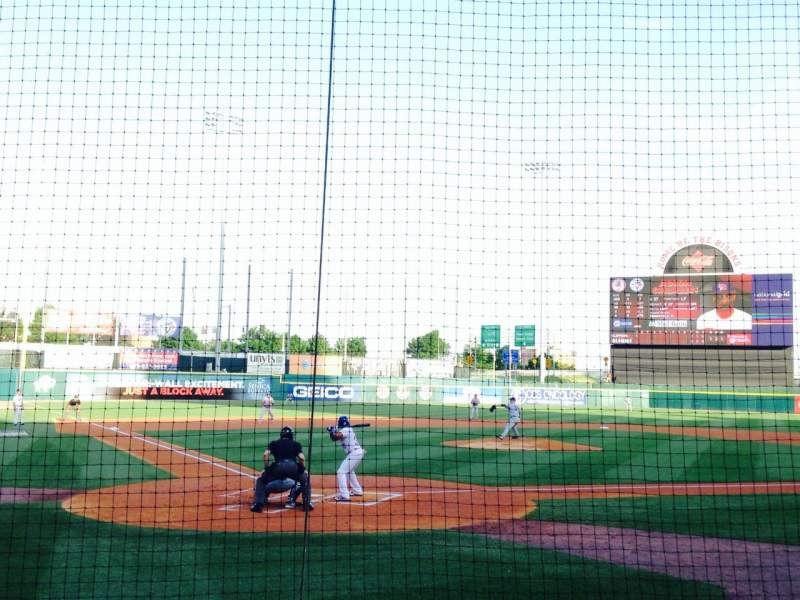 Seating view for Coca-Cola Field Section 102 Row D Seat 1