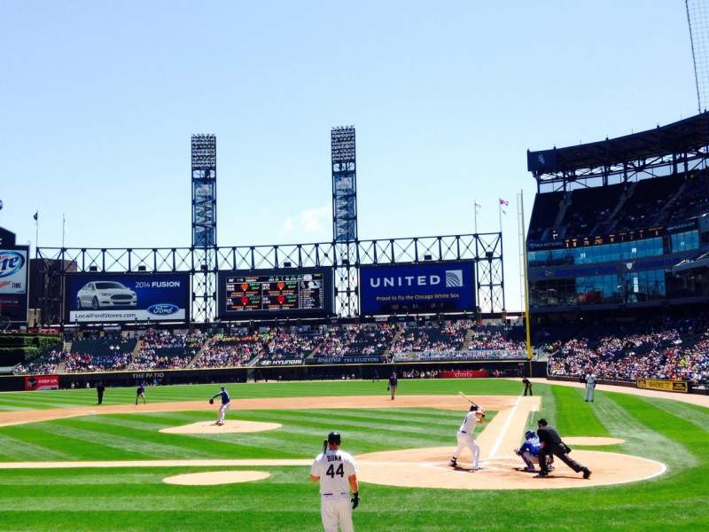 Seating view for Guaranteed Rate Field Section 135 Row 10 Seat 7