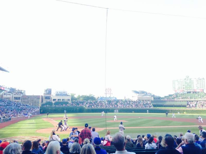 Seating view for Wrigley Field Section 124 Row 1 Seat 1