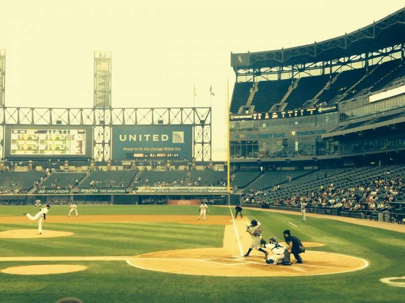 Seating view for Guaranteed Rate Field Section 136 Row 8 Seat 2