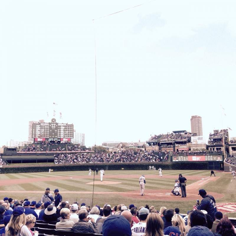 Seating view for Wrigley Field Section 17 Row 11 Seat 2