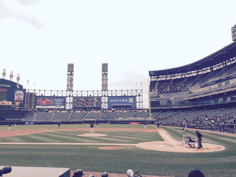 Seating view for Guaranteed Rate Field Section 136 Row 9 Seat 7
