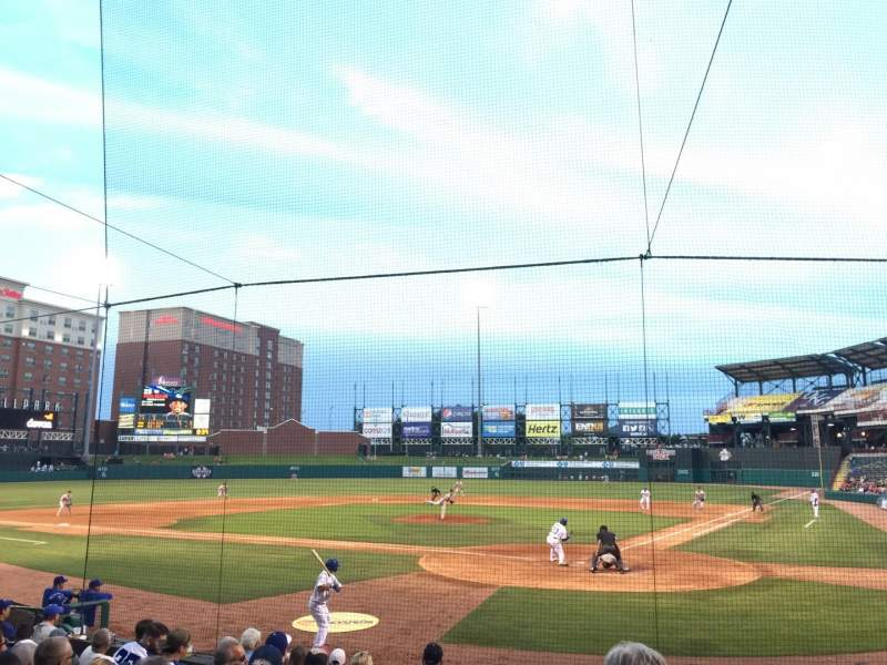Seating view for Chickasaw Bricktown Ballpark Section 109 Row M  Seat 14