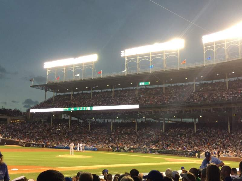 Seating view for Wrigley Field Section 11 Row 10 Seat 103