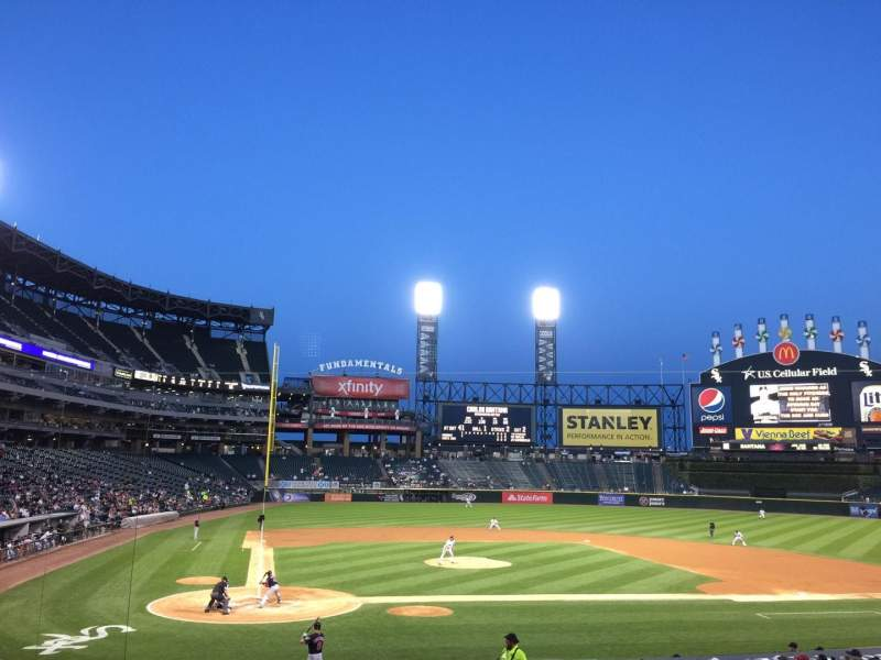 Seating view for Guaranteed Rate Field Section 128 Row 24 Seat 9