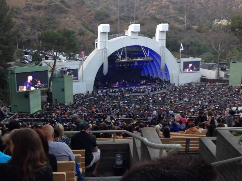 Seating view for Hollywood Bowl Section U3 Row 6 Seat 1