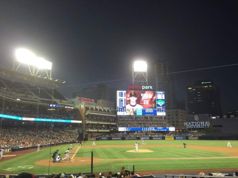 Seating view for PETCO Park Section 105 Row 19 Seat 5