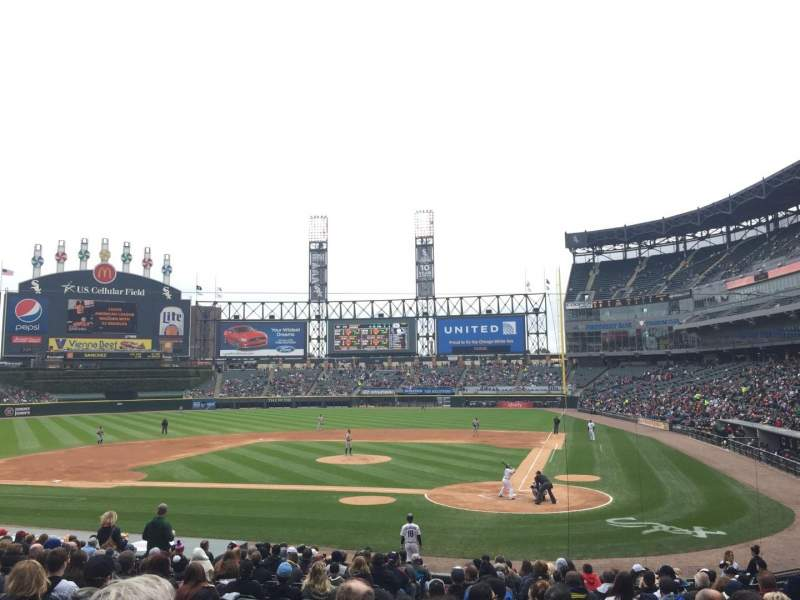 Seating view for Guaranteed Rate Field Section 135 Row 23 Seat 12
